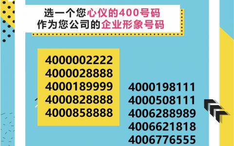 2019年8月1日:今日400电话推荐