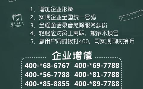 2019年8月8日:今日400电话推荐