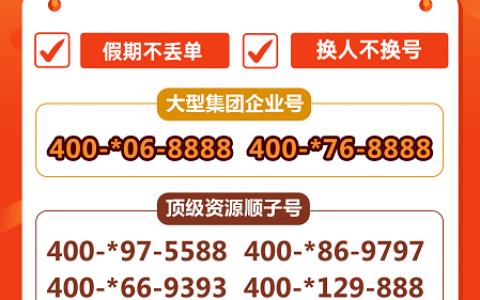 2020年4月21日:今日400电话推荐