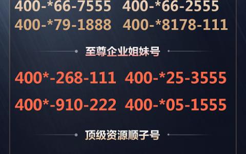 2020年4月23日:今日400电话推荐