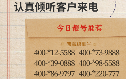 2020年5月29日:今日400电话推荐