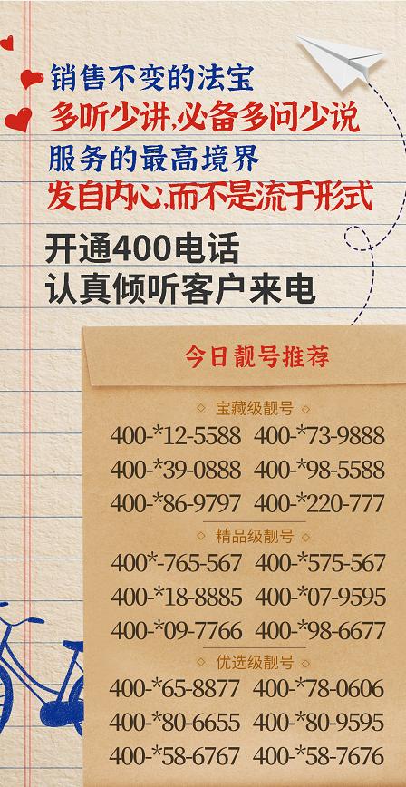 """020年5月29日:今日400电话推荐"""""""