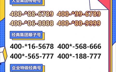 2020年6月22日:今日400电话推荐