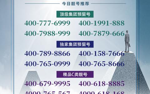 2020年7月17日:今日400电话推荐