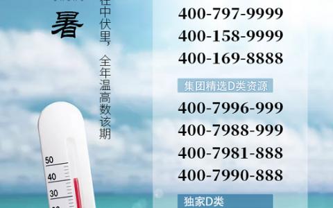 2020年7月22日:今日400电话推荐
