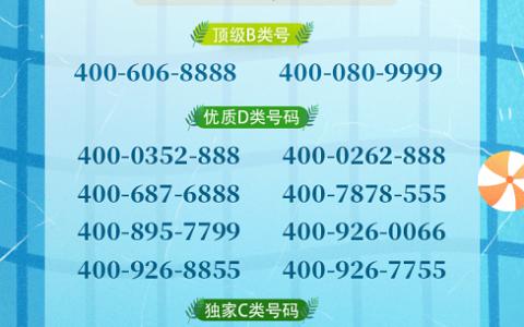 2020年7月3日:今日400电话推荐