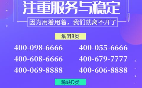 2020年7月9日:今日400电话推荐