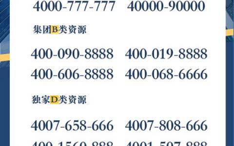 2020年8月11日:今日400电话推荐