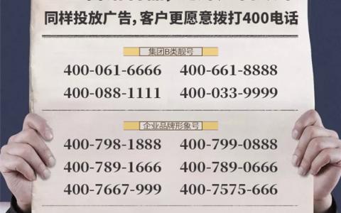2020年9月15日:今日400电话推荐