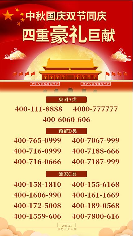 """020年9月22日:今日400电话推荐"""""""