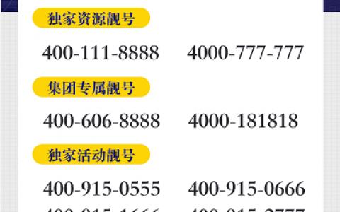 2020年10月10日:今日400电话推荐