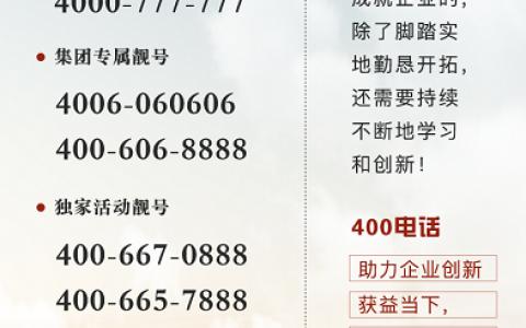 2020年10月15日:今日400电话推荐