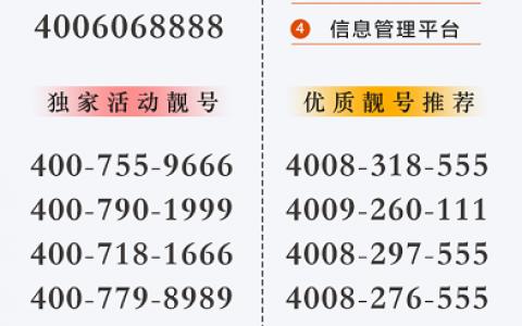 2020年10月16日:今日400电话推荐