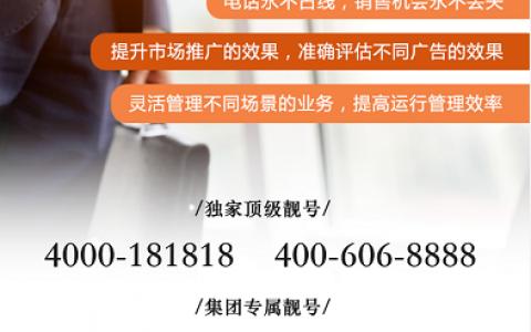 2020年10月20日:今日400电话推荐